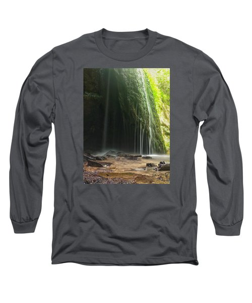Long Sleeve T-Shirt featuring the photograph Wisconsin Waterfall by Nikki McInnes