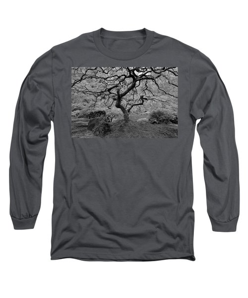Long Sleeve T-Shirt featuring the photograph Wisdom Bw by Jonathan Davison