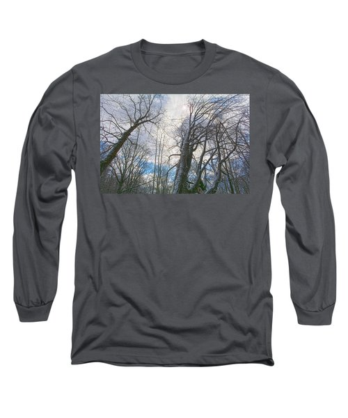 Wisdom Of The Trees Long Sleeve T-Shirt by Angelo Marcialis