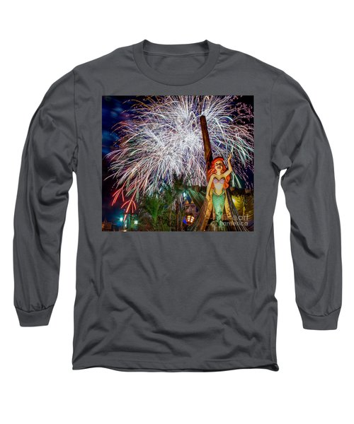Wishes Over Prince Eric's Castle Long Sleeve T-Shirt