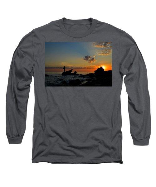 Wishing On A Star Long Sleeve T-Shirt by Dianne Cowen