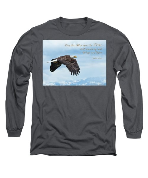 With Wings As Eagles Long Sleeve T-Shirt
