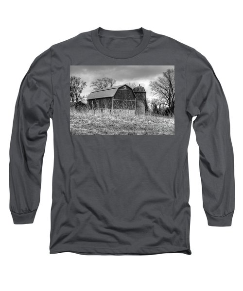 Withered Old Barn Long Sleeve T-Shirt by Deborah Klubertanz