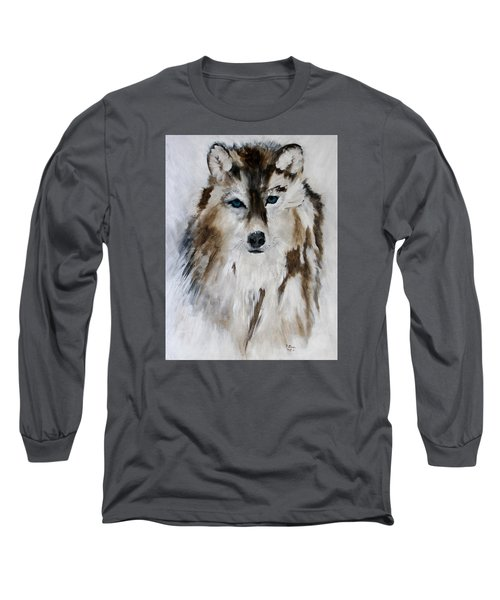 Wolf - Blue Star Long Sleeve T-Shirt
