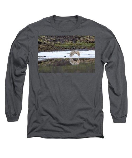 Wolflection Long Sleeve T-Shirt by Steve Stuller