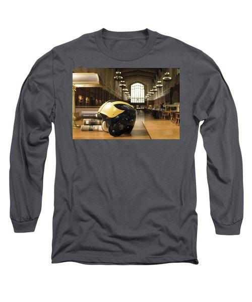 Wolverine Helmet In Law Library Long Sleeve T-Shirt