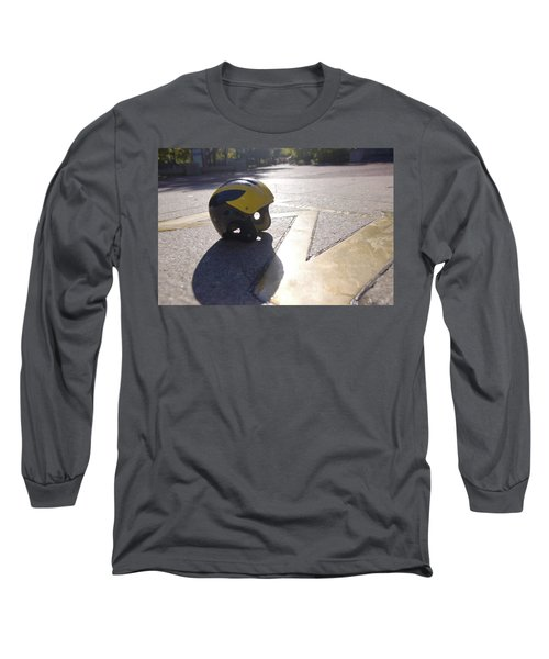 Wolverine Helmet On The Diag Long Sleeve T-Shirt