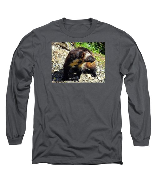 Long Sleeve T-Shirt featuring the photograph Wolverine Wilderness by Kathy Kelly