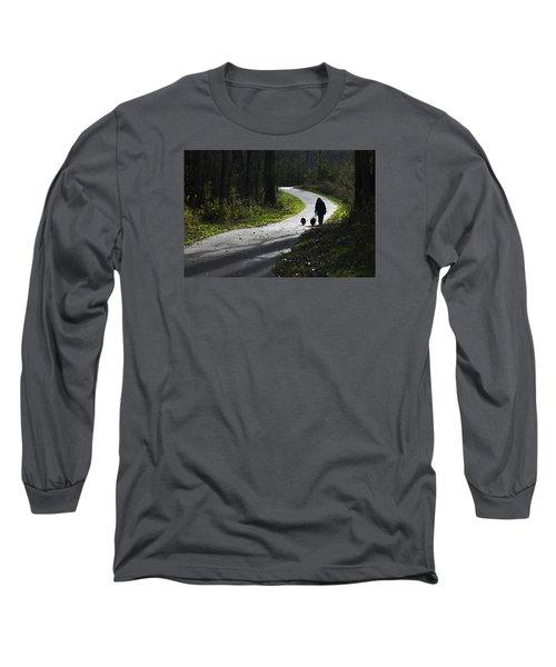 Woman And Border Collies Long Sleeve T-Shirt