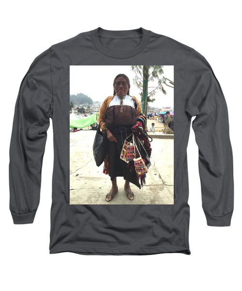 Woman In Chiapas. Long Sleeve T-Shirt