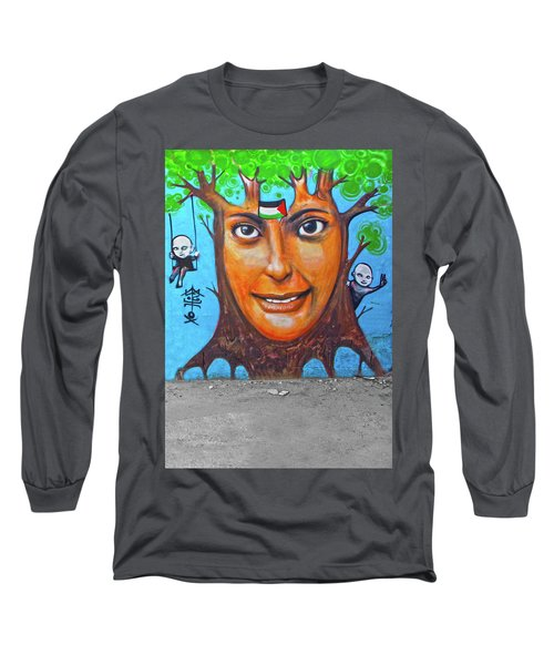 Long Sleeve T-Shirt featuring the photograph Woman Tree by Munir Alawi