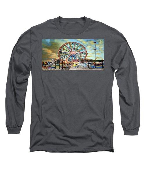 Wonder Wheel Image For Towel Long Sleeve T-Shirt