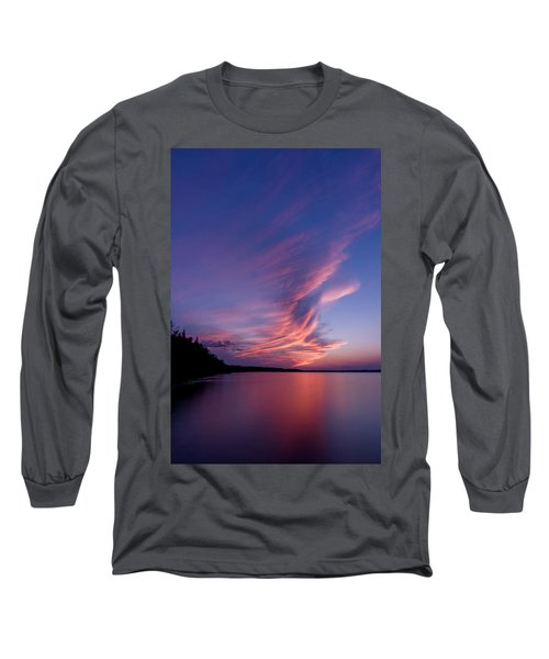 Long Sleeve T-Shirt featuring the photograph Wonderful Skeleton Lake Sunset by Darcy Michaelchuk
