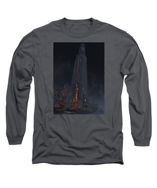 Wonders Lighthouse Of Alxendria Long Sleeve T-Shirt by Te Hu