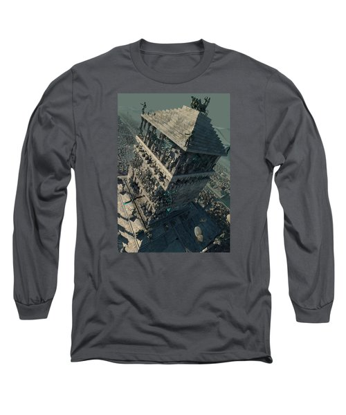 wonders Mausoleum at Halicarnassus Long Sleeve T-Shirt by Te Hu