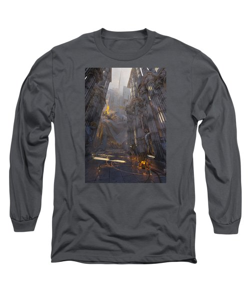 Wonders Temple Of Zeus Long Sleeve T-Shirt by Te Hu
