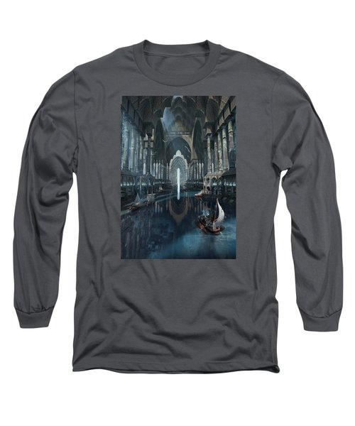 Wonders The Canal Of Isfahan Long Sleeve T-Shirt by Te Hu