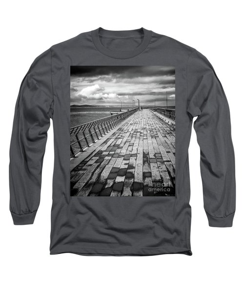 Long Sleeve T-Shirt featuring the photograph Wood And Pier by Perry Webster