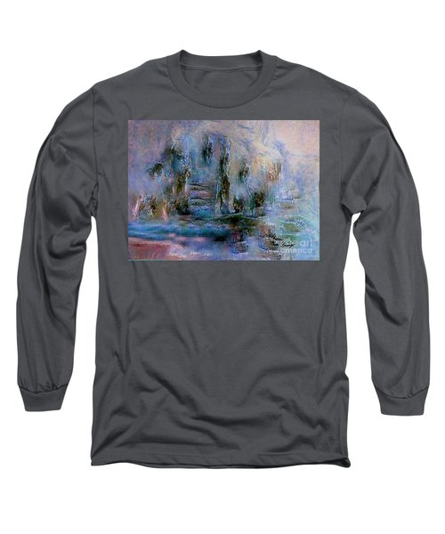 Wood Art  Lost In Time Long Sleeve T-Shirt by Sherri's Of Palm Springs