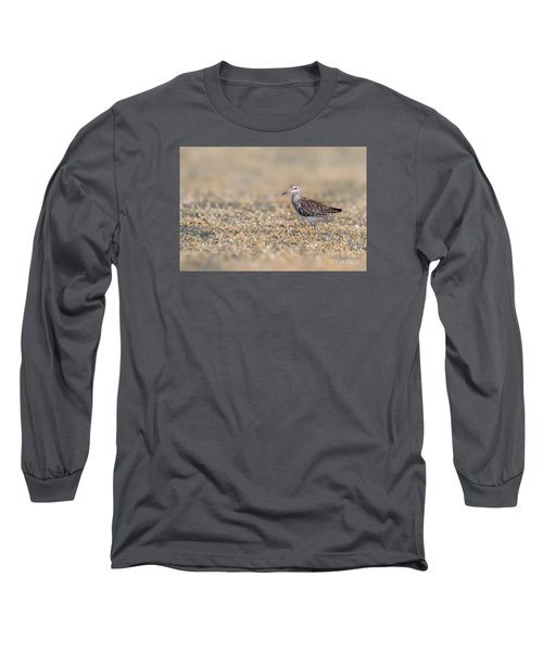 Long Sleeve T-Shirt featuring the photograph Wood Sandpiper by Jivko Nakev