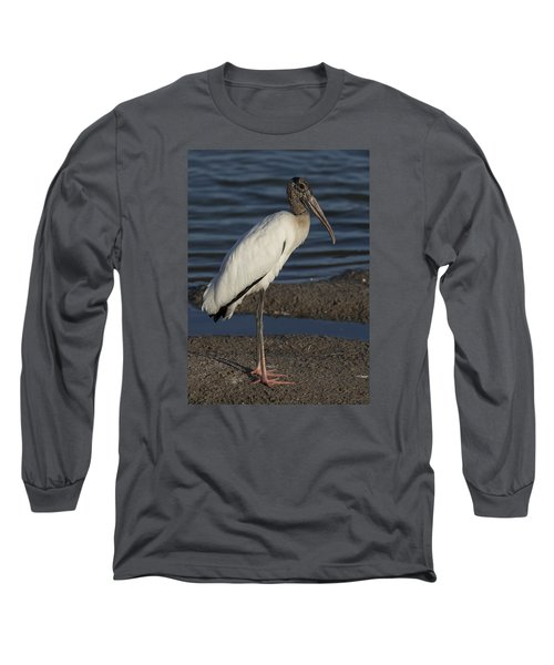 Wood Stork In The Final Light Of Day Long Sleeve T-Shirt