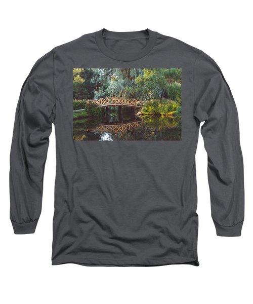 Long Sleeve T-Shirt featuring the photograph Wooden Bridge by Ari Salmela