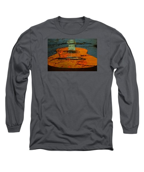 Wooden Guitar Long Sleeve T-Shirt