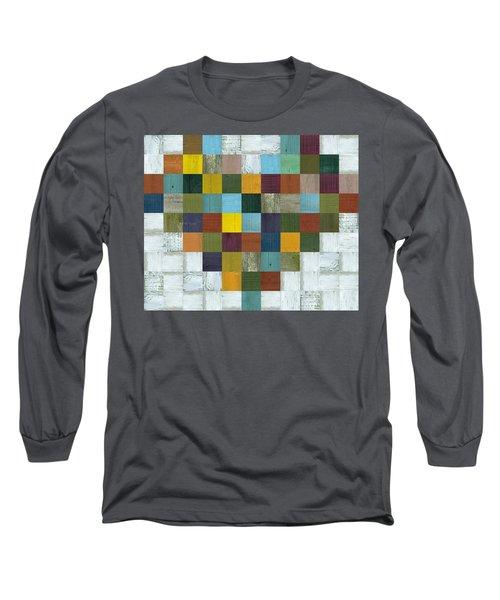 Long Sleeve T-Shirt featuring the digital art Wooden Heart by Michelle Calkins