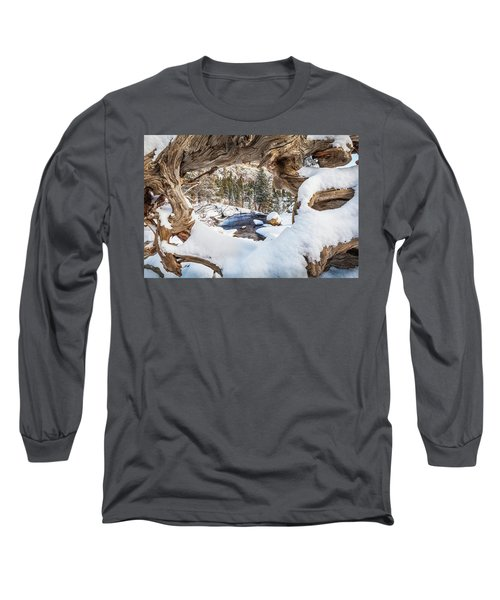 Wooden Window View  Long Sleeve T-Shirt