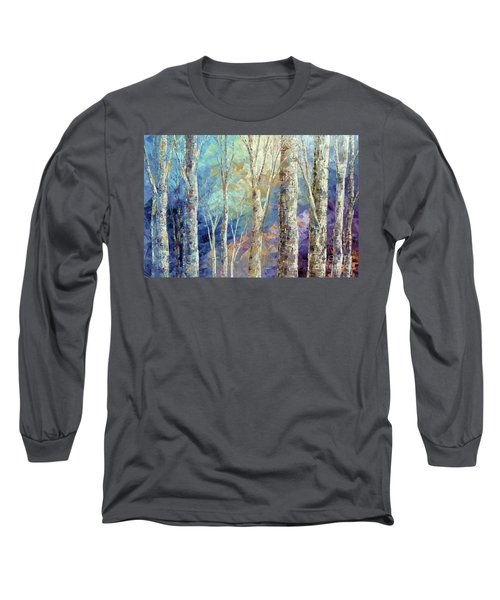 Long Sleeve T-Shirt featuring the painting Woodland Breezes by Tatiana Iliina
