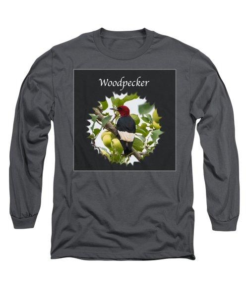 Woodpecker Long Sleeve T-Shirt by Jan M Holden