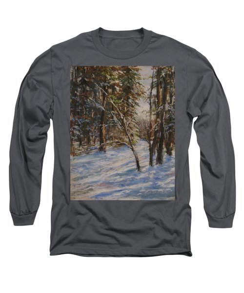 Woods And Snow At Two Below Long Sleeve T-Shirt