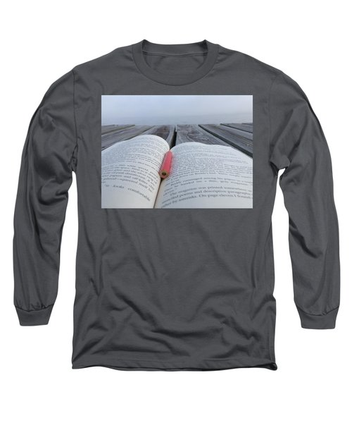 Words On The Dock Long Sleeve T-Shirt by Christin Brodie