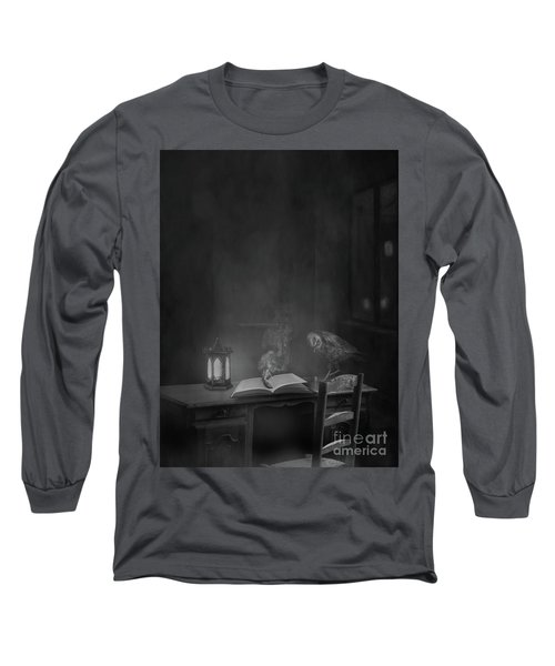 Working Overtime Bw Long Sleeve T-Shirt