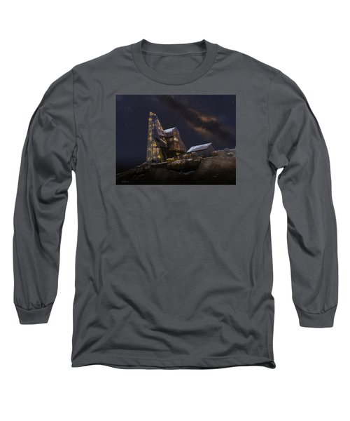 Working Through The Night Long Sleeve T-Shirt by J Griff Griffin