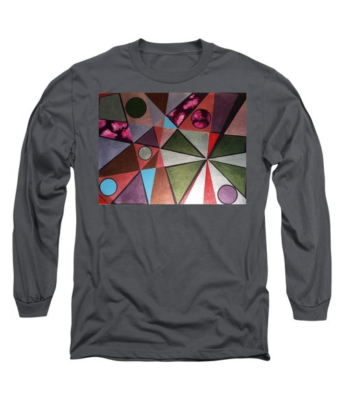 Long Sleeve T-Shirt featuring the painting World In Mind by Hang Ho