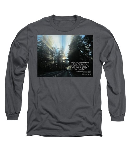 Long Sleeve T-Shirt featuring the photograph World Kindness Day by Peggy Hughes