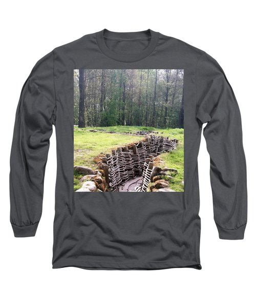 Long Sleeve T-Shirt featuring the photograph World War One Trenches by Travel Pics
