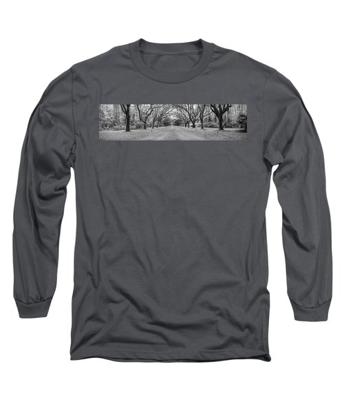 Long Sleeve T-Shirt featuring the photograph Wormsloe Pathway by Jon Glaser