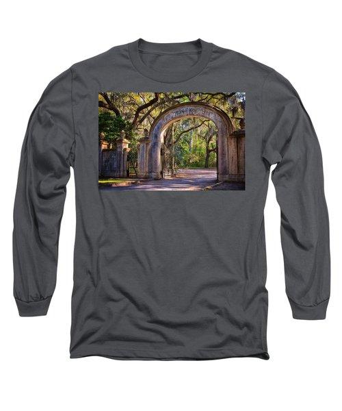 Wormsloe Plantation Gate Long Sleeve T-Shirt