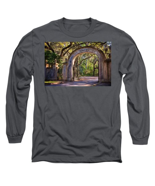 Wormsloe Plantation Gate Long Sleeve T-Shirt