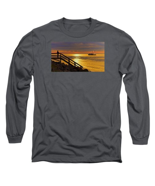 Worth Gettin Up For Long Sleeve T-Shirt by Laura Ragland