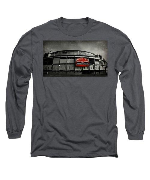 Wrigley Field Long Sleeve T-Shirt by Stephen Stookey