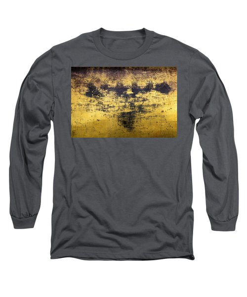 Long Sleeve T-Shirt featuring the photograph Writing On Metal, Beijing, 2016 by Hitendra SINKAR