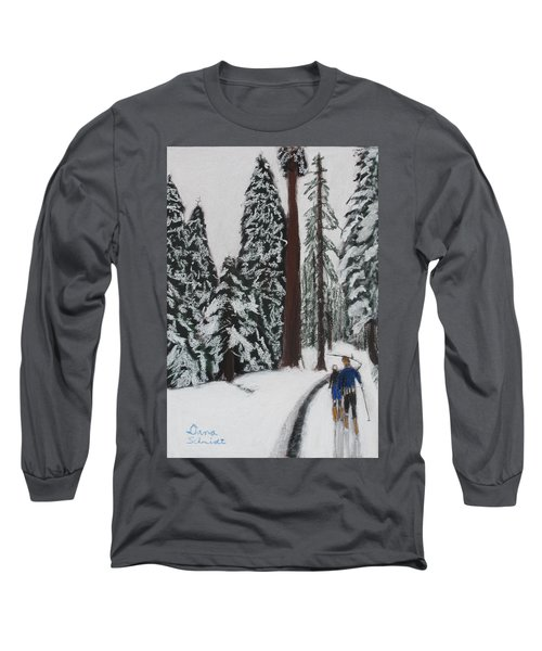 X-c Skiing In The Ca Redwoods 14 Years Ago Long Sleeve T-Shirt