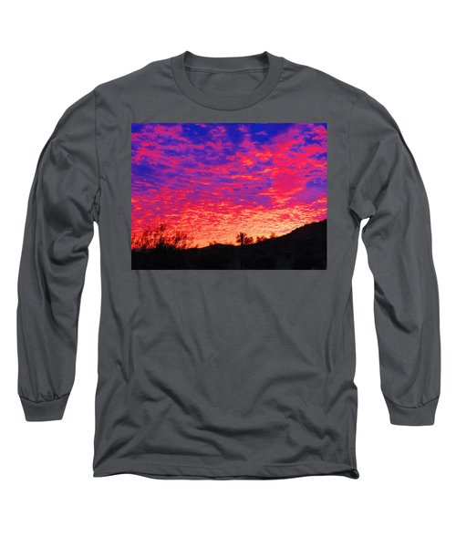 Y Cactus Sunset 1 Long Sleeve T-Shirt