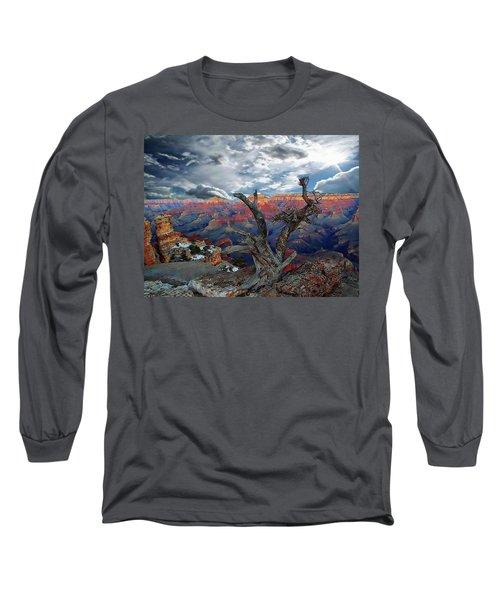 Yaki Point Grand Canyon Long Sleeve T-Shirt by Anthony Dezenzio