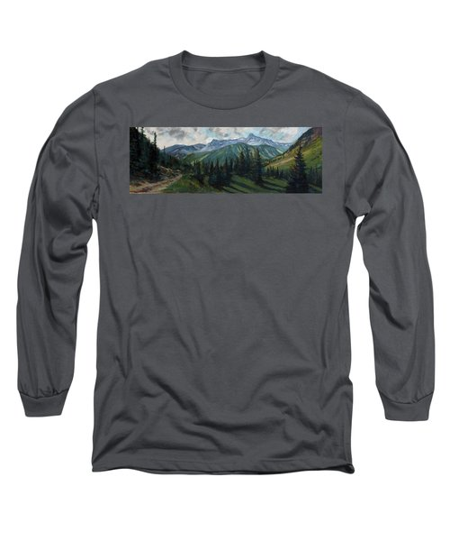 Long Sleeve T-Shirt featuring the painting Yankee Boy Basin by Billie Colson