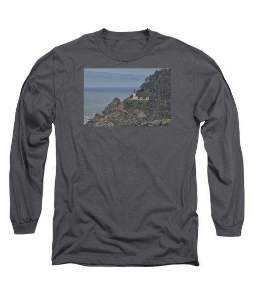 Yaquina Bay Lighthouse Long Sleeve T-Shirt by Tom Kelly