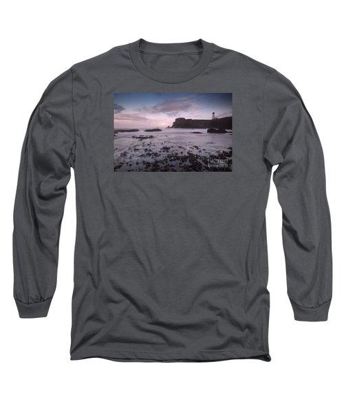 Yaquina Head Lighthouse Long Sleeve T-Shirt by Keith Kapple